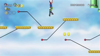 Early photo of a series of platforms from World 7-4 in New Super Mario Bros. Wii