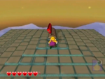 One of Pecan Sands' red diamond sub-levels from Wario World.