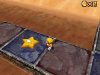 The Star Switch of Shifting Sand Land in Super Mario 64 DS