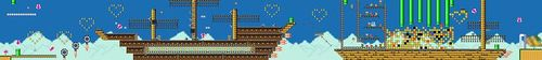 Course layout of Ship Love in Super Mario Maker.