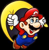 Artwork of Caped Mario
