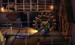 The Synchro Gantry segment from Luigi's Mansion: Dark Moon.