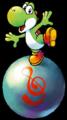 Yoshi on Chime Ball art.png