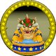 A figure with Bowser on it.