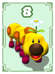 Wiggler card in Cardiators from Mario Party 8
