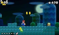 Mario triggering the enemy wall glitch