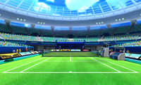 Overview of the Grass Court from Mario Sports Superstars