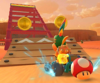 The icon of the Hammer Bro Cup challenge from the Sunset Tour and the Toad Cup challenge from the Wedding Tour in Mario Kart Tour