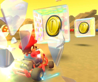The icon of the Metal Mario Cup challenge from the Summer Tour in Mario Kart Tour.