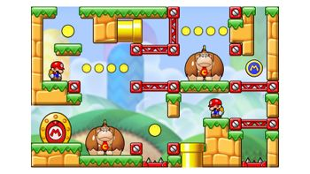 Miiverse screenshot of the 2nd official level in the online community of Mario vs. Donkey Kong: Tipping Stars