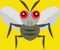 Artwork of a fly from Super Mario Maker