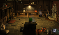 The Tool Shed segment from Luigi's Mansion: Dark Moon.