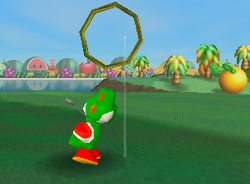 Zig and Zag, a Ring Shot challenge in Yoshi's Island from Mario Golf