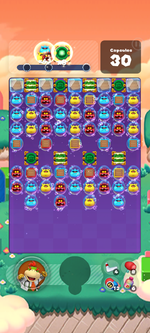 Stage 584 from Dr. Mario World