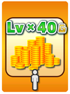 A Venture Card from Fortune Street indicating bonus Gold based on the player's level