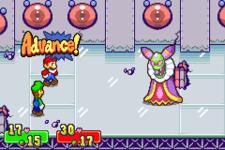 Mario thinking of an Advanced Command / Super Attack in both the original Mario & Luigi: Superstar Saga and its remake