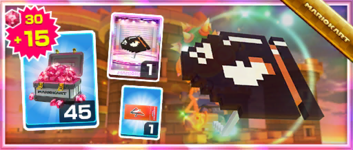The 8-Bit Bullet Bill Pack from the Bowser vs. DK Tour in Mario Kart Tour