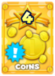 Grants twice the Coins when you defeat an enemy with your next command.
