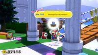 Mario collecting a Collectible Treasure of Shangri-Spa Fountain