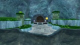 """A screenshot of Slimy Spring Galaxy during """"The Deep Shell Well"""" mission from Super Mario Galaxy 2."""
