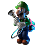 Artwork of Luigi looking scared from Luigi's Mansion 3