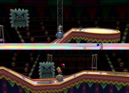 Wario in Balancing Act from Mario Party 8