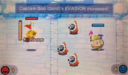 """A screenshot of the Minion Quest: The Search for Bowser level, """"Captain Boo Trial (Gold)""""."""
