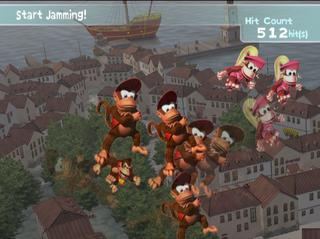 The Freestyle Zone in the European version of Donkey Konga 2.