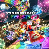 Artwork used on the box of Mario Kart 8 Deluxe.