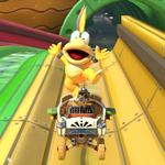 Lemmy Koopa performs a trick.