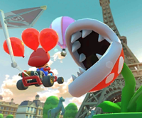 The icon of the Baby Rosalina Cup challenge from the 2019 Paris Tour and the Diddy Kong Cup challenge from the 1st Anniversary Tour in Mario Kart Tour