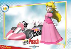Mario Kart Wii trading card of Princess Peach.