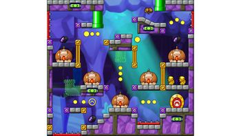 Miiverse screenshot of the 84th official level in the online community of Mario vs. Donkey Kong: Tipping Stars