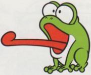Artwork of a Bopping Toady, from Super Mario Land 2: 6 Golden Coins.