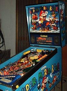 Super Mario Bros. (pinball) machine full view