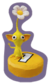 A Sticker of a Yellow Pellet (with a Yellow Pikmin on top) in Super Smash Bros. Brawl.