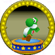 A figure with Yoshi on it.