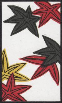 Fourth card of October in the Club Nintendo Hanafuda deck.