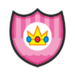 Princess Peach's emblem from soccer from Mario Sports Superstars