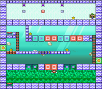 Level 6-3 map in the game Mario & Wario.