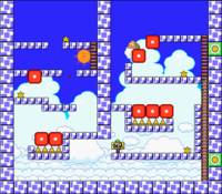 Level 7-8 map in the game Mario & Wario.