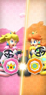 The Peach vs. Daisy Tour from Mario Kart Tour.
