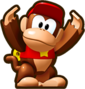 Mini Diddy Kong, from Mini Mario & Friends: amiibo Challenge