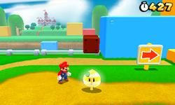 Super Mario 3D Land Screenshot - Invincibility Leaf