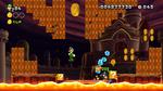 Screenshot of Magma Moat in New Super Luigi U.