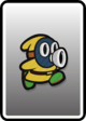 A Yellow Snifit card from Paper Mario: Color Splash