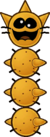 A Pokey as it apears in Paper Mario: The Thousand-Year Door.