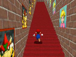 The endless stairs inside Mushroom Castle