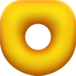 Artwork from a Donut Block, from Super Mario Maker for Nintendo 3DS.