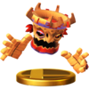Tiki Tong trophy from Super Smash Bros. for Wii U